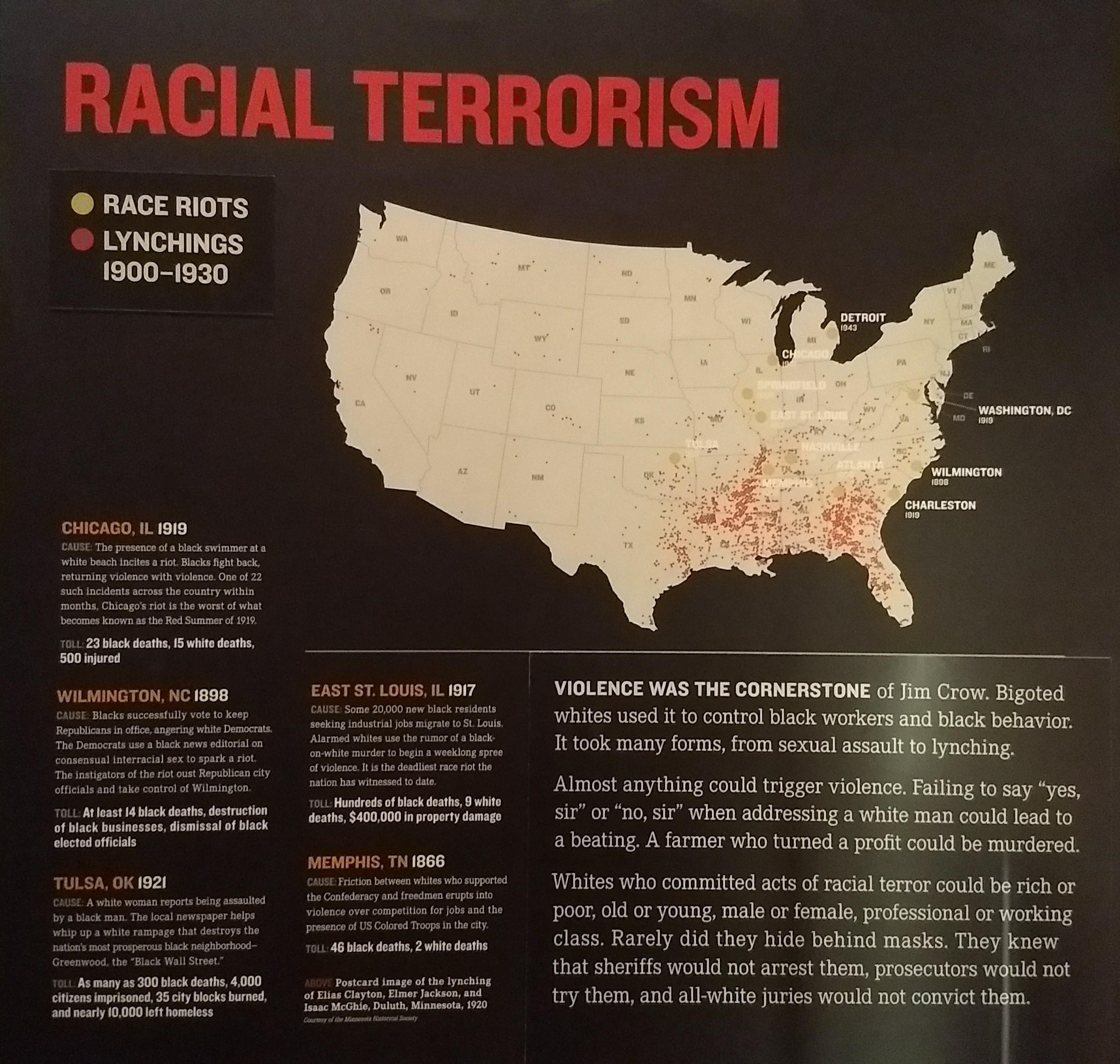 Racial Terrorism Map