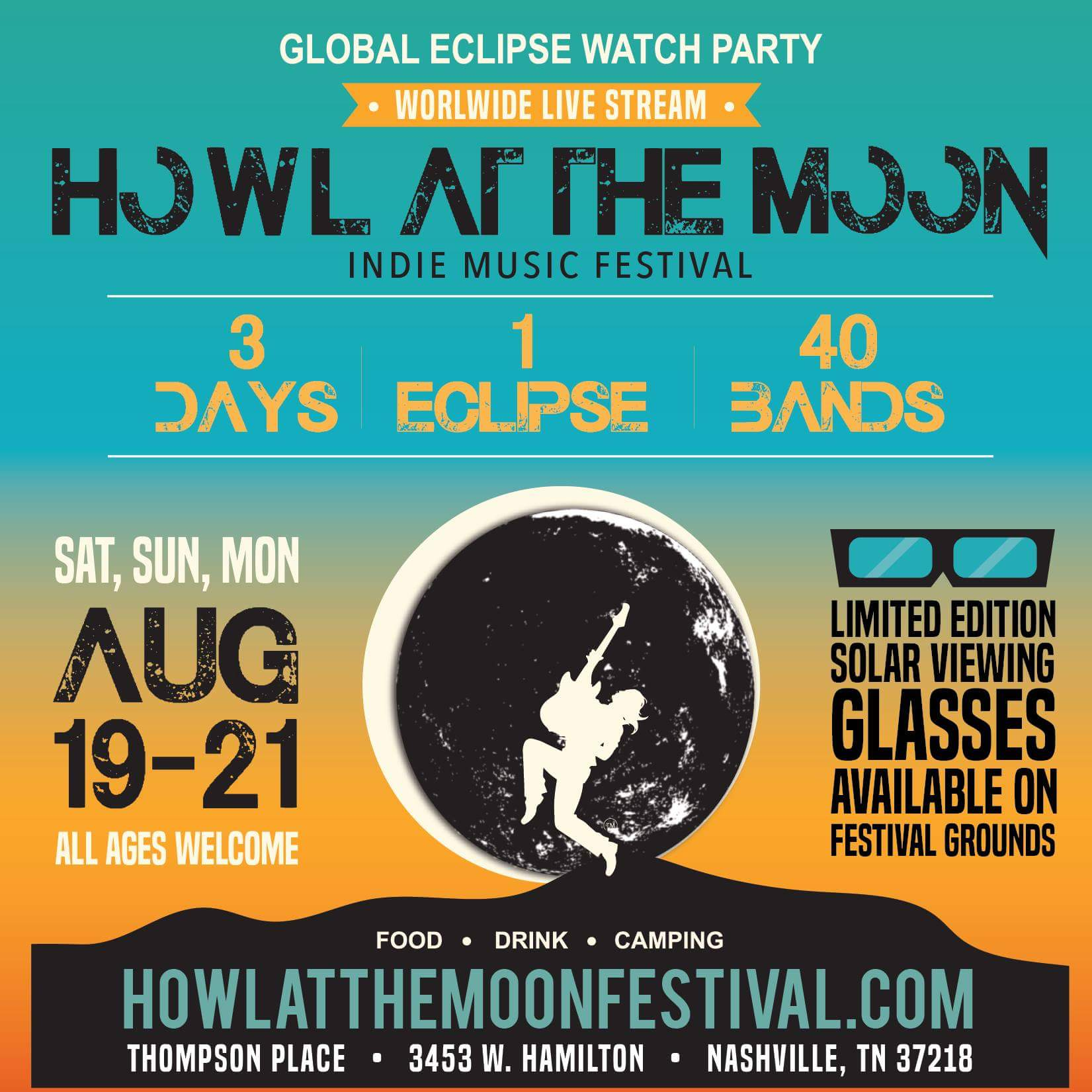 Howl at The Moon Indie Music Festival Nashville Poster