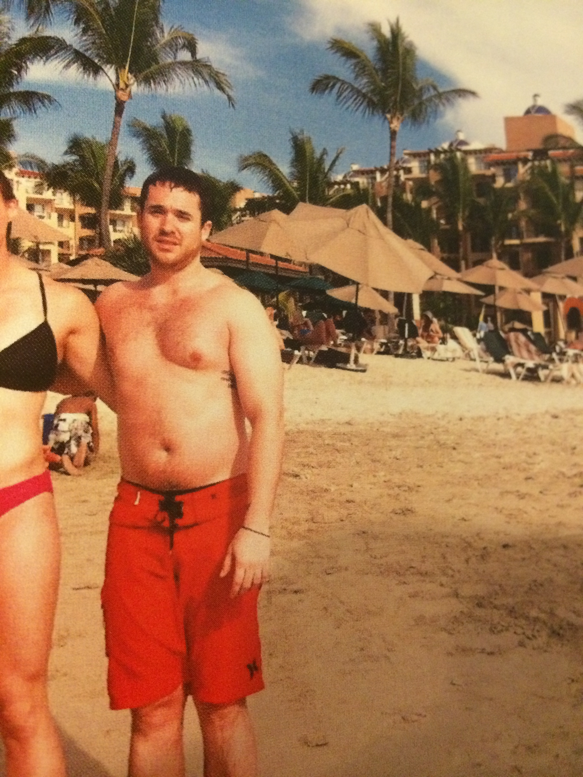 """Coach Danny on vacation over Thanksgiving in 2014, topping out during his attempt at """"bulking""""at 195 pounds."""