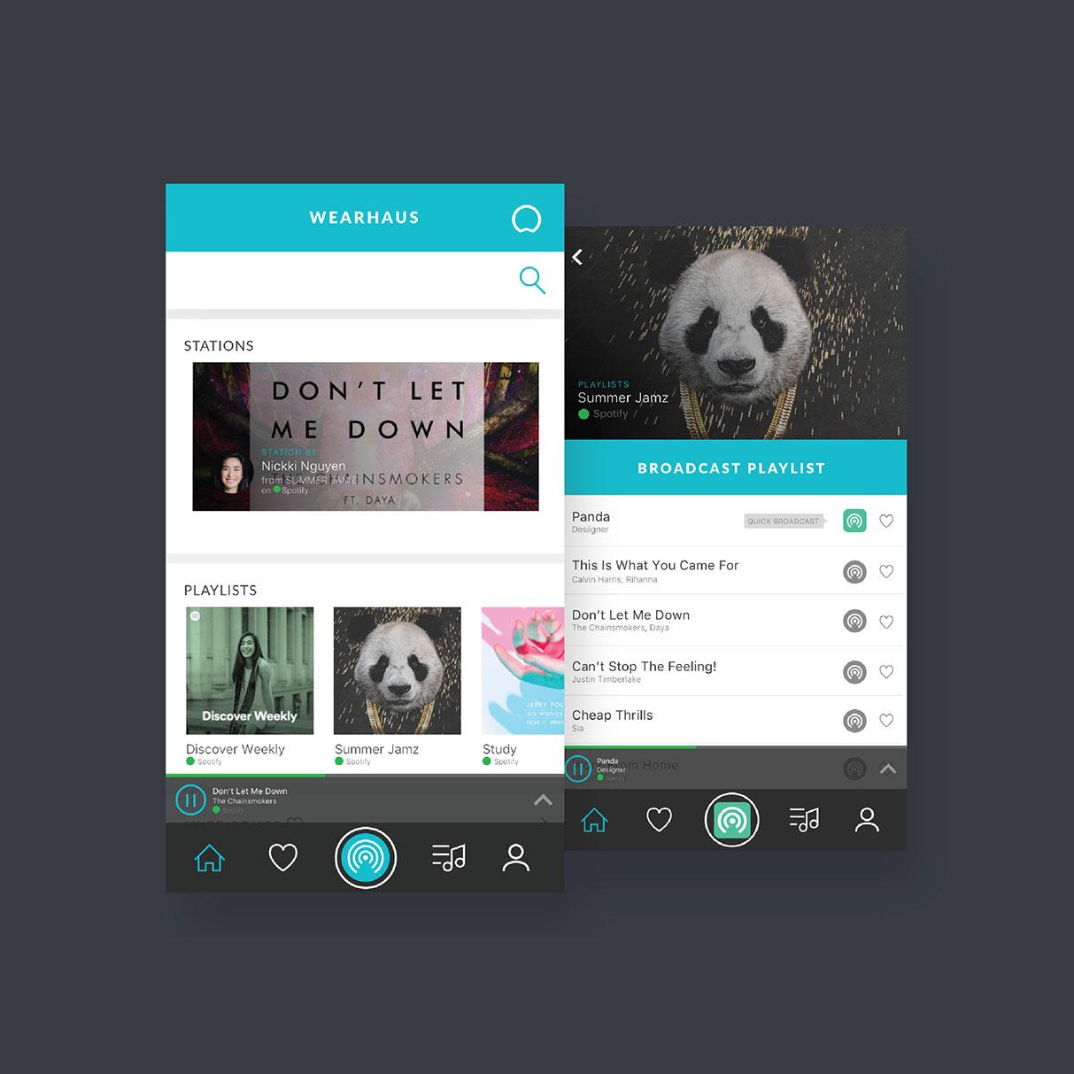 Wearhaus mobile app, ui/ux design & branding