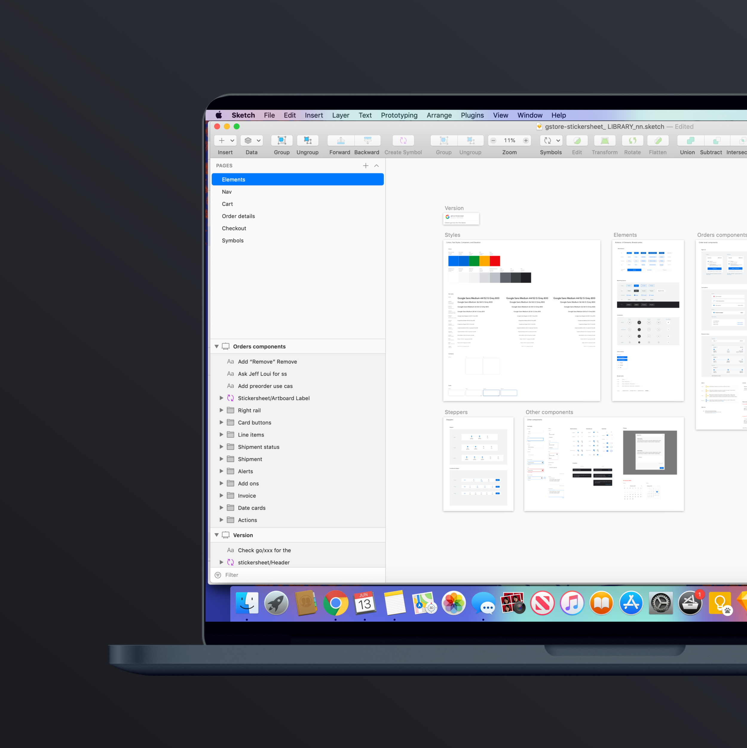 Google Store Design System