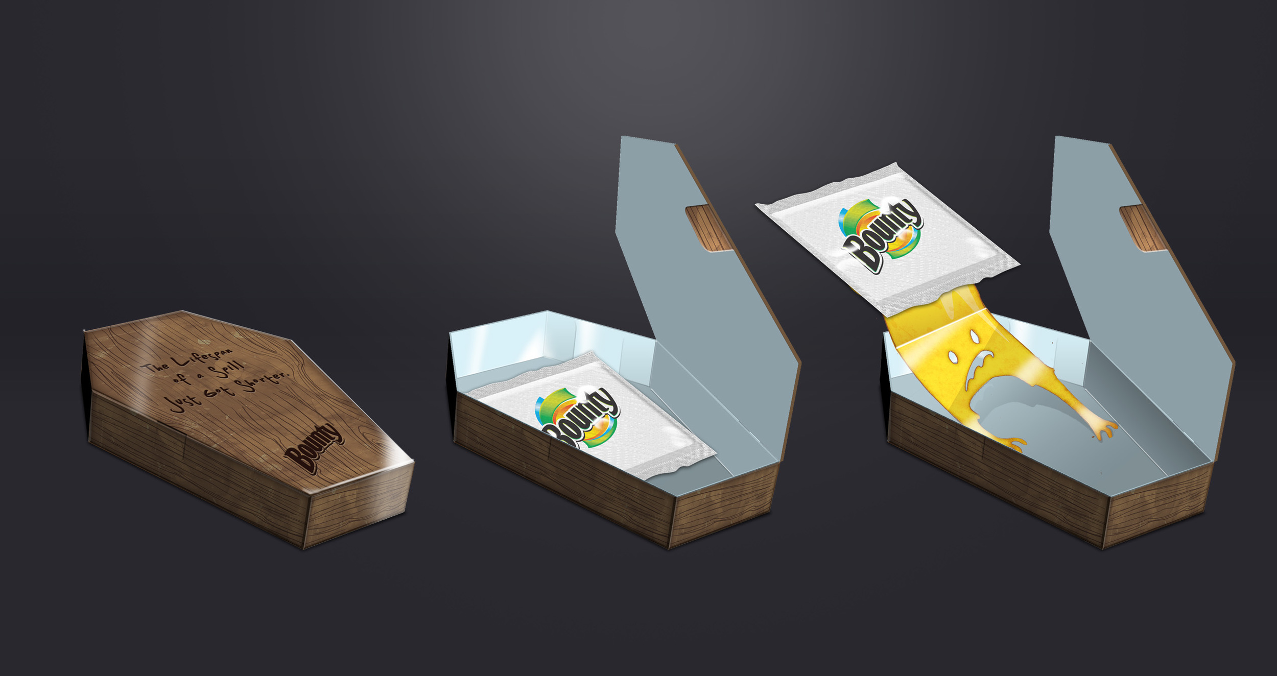 """COFFIN DIRECT MAILERS: """"The lifespan of a spill just got shorter."""""""
