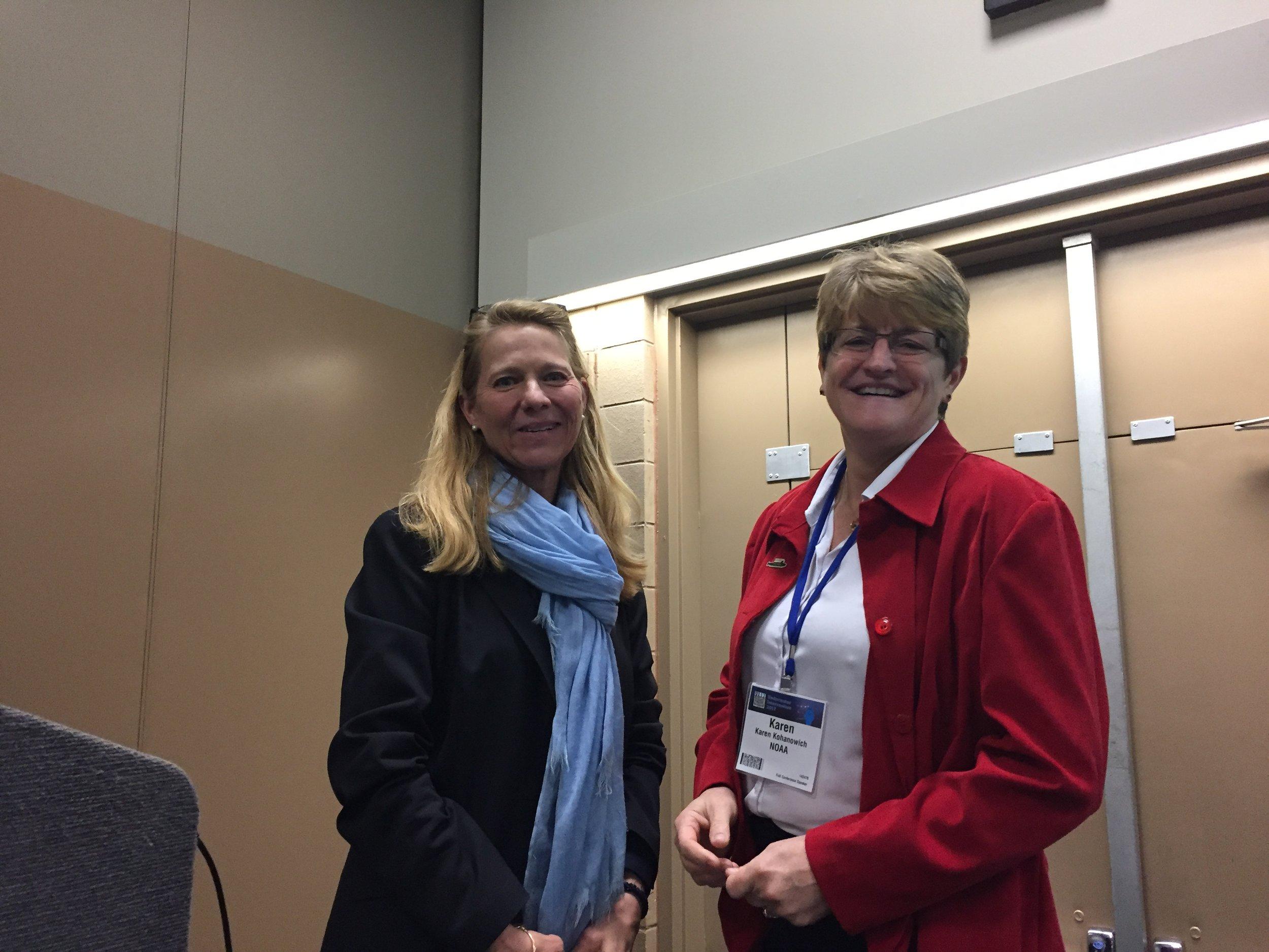 Colleen Hahn, Gryphon Media Strategies & Karen Kohanowich, NOAA