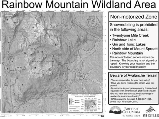 Non motorized zone near Whistler
