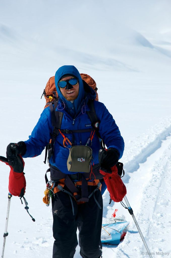 Michal making his way along the icefield.