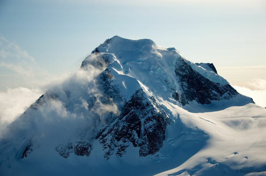 Cerberus' NW ridge and North face from the summit of Erehwon.
