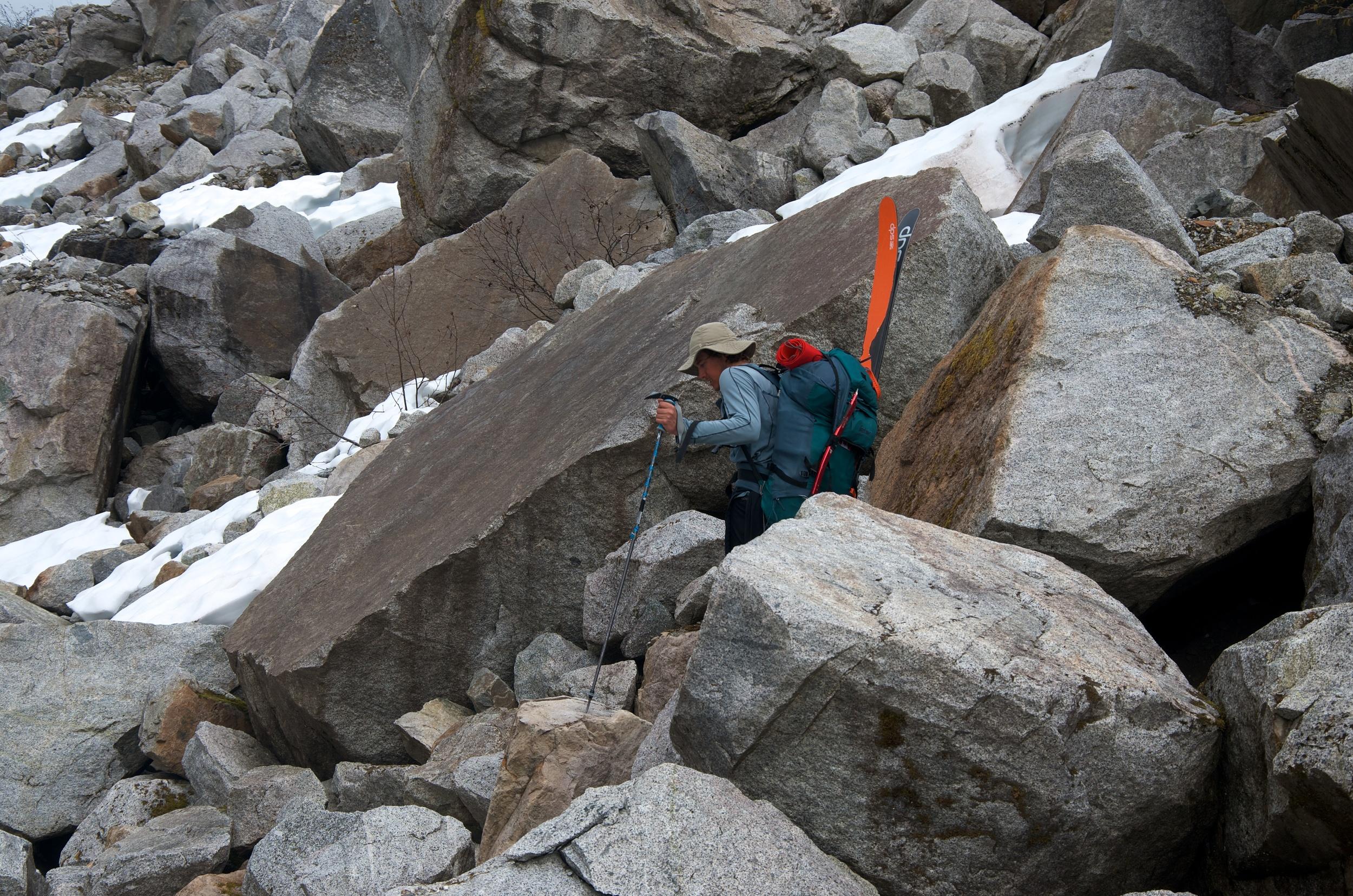 Artem amongst the boulders.