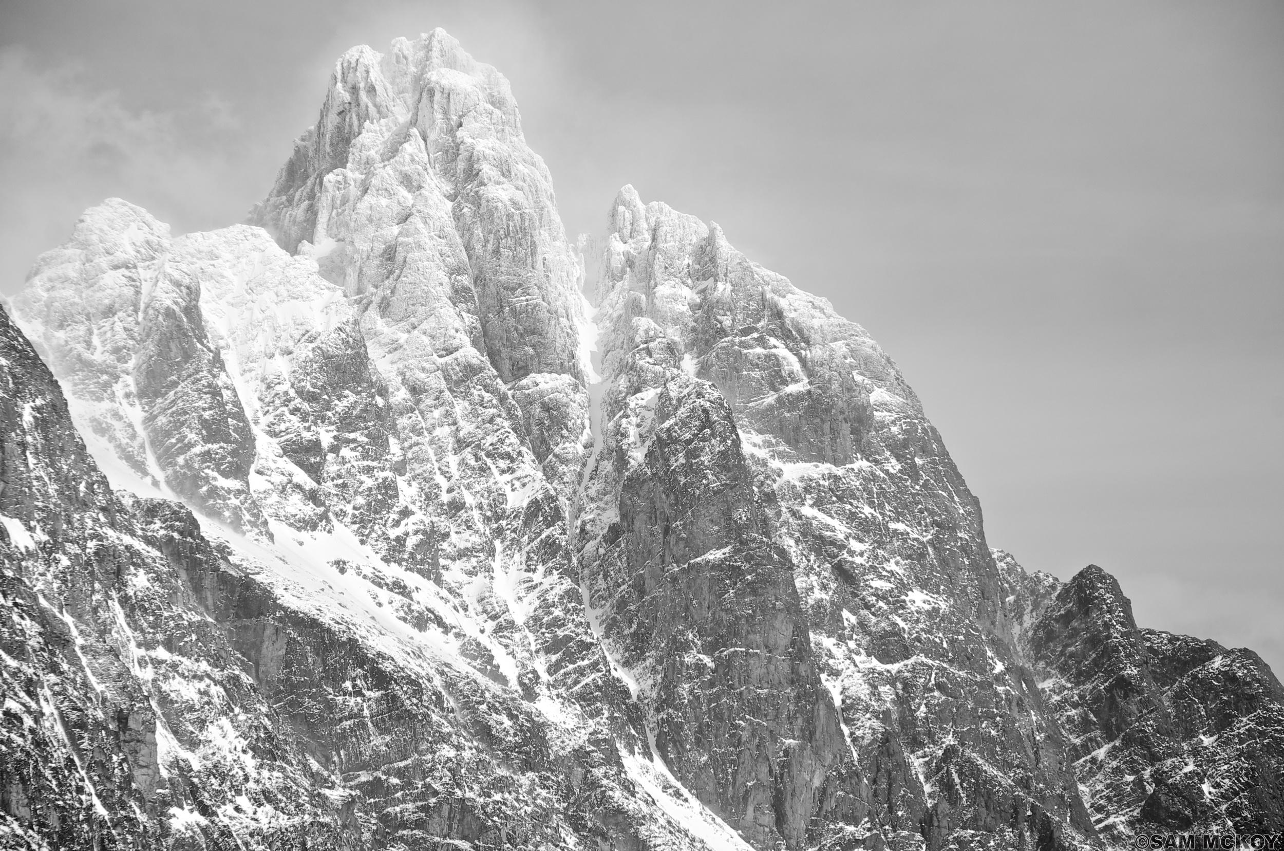 The mountains bordering Chilko Lake