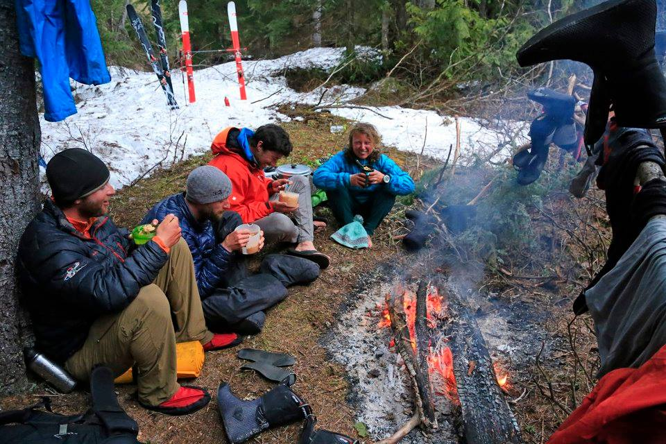 Camped after the big day. Photo Douglas Noblet.
