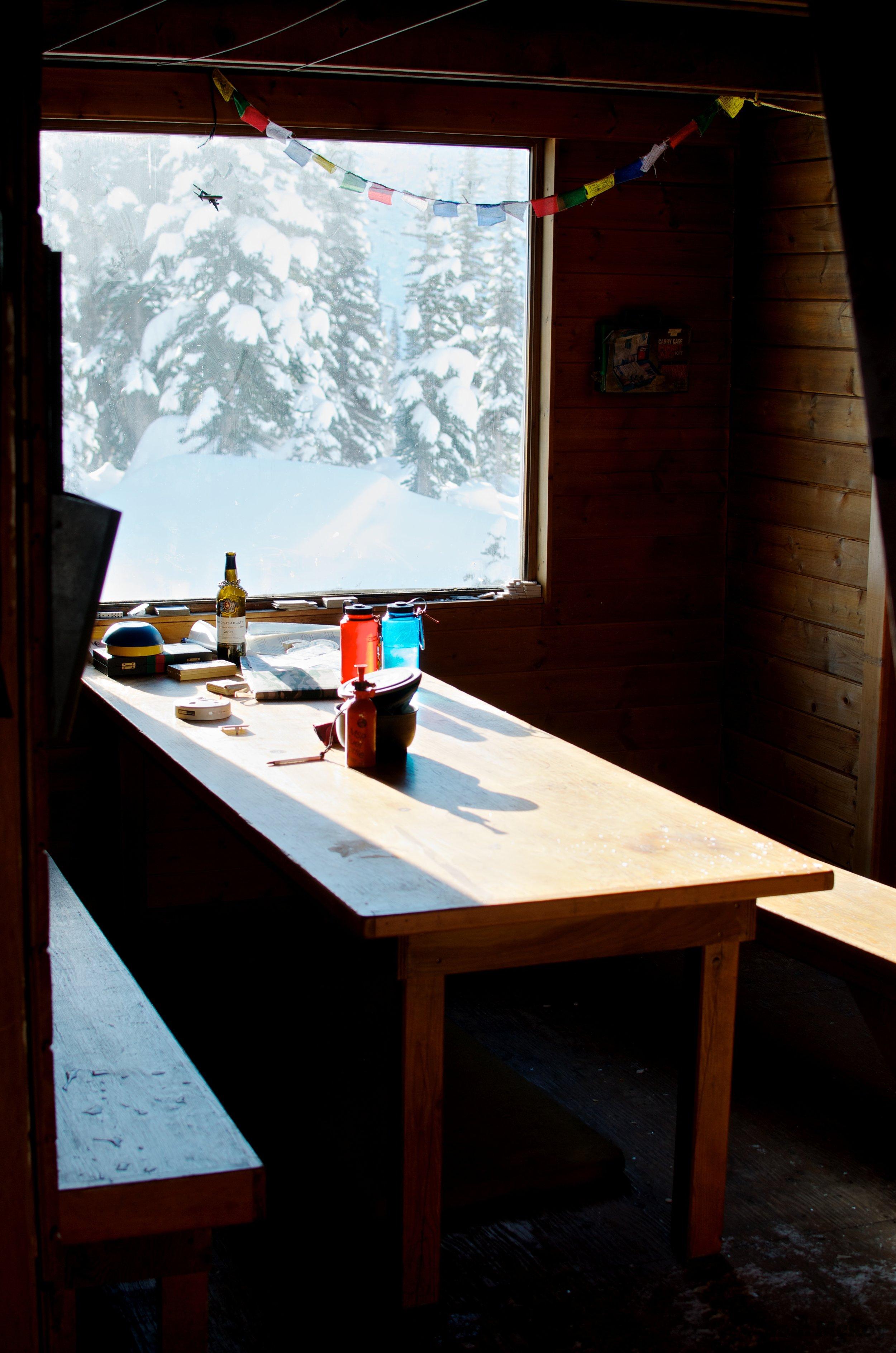 Interior of the Wendy Thompson Hut