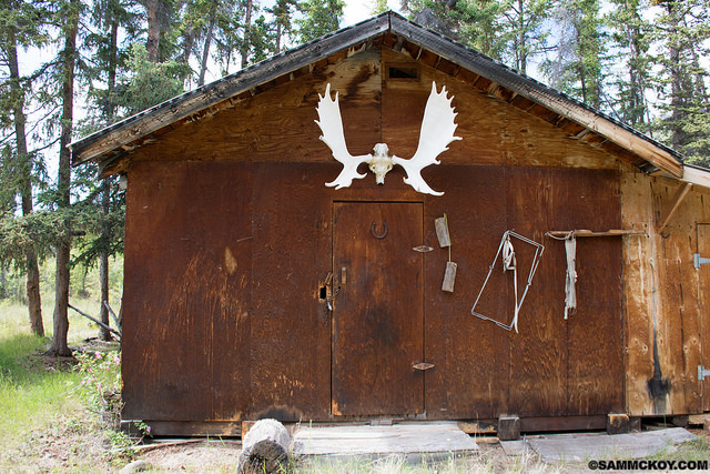 A guide outfitter outpost accessed by Floatplane in the SW Yukon.