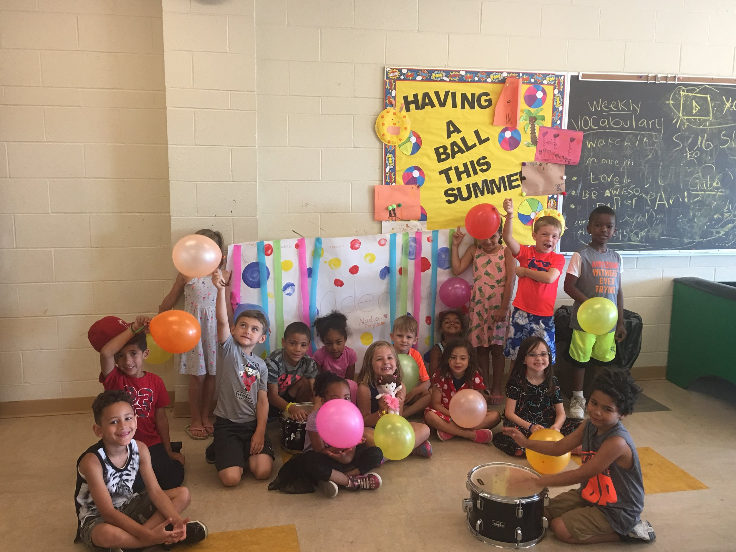 Our youngest campers celebrate the end of leadership week with a leadership parade
