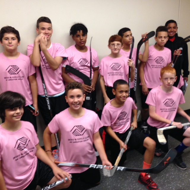 Floor hockey team