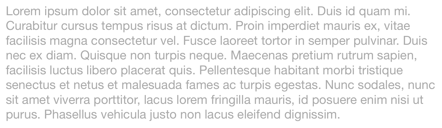 Text on an Apple iPad Tablet