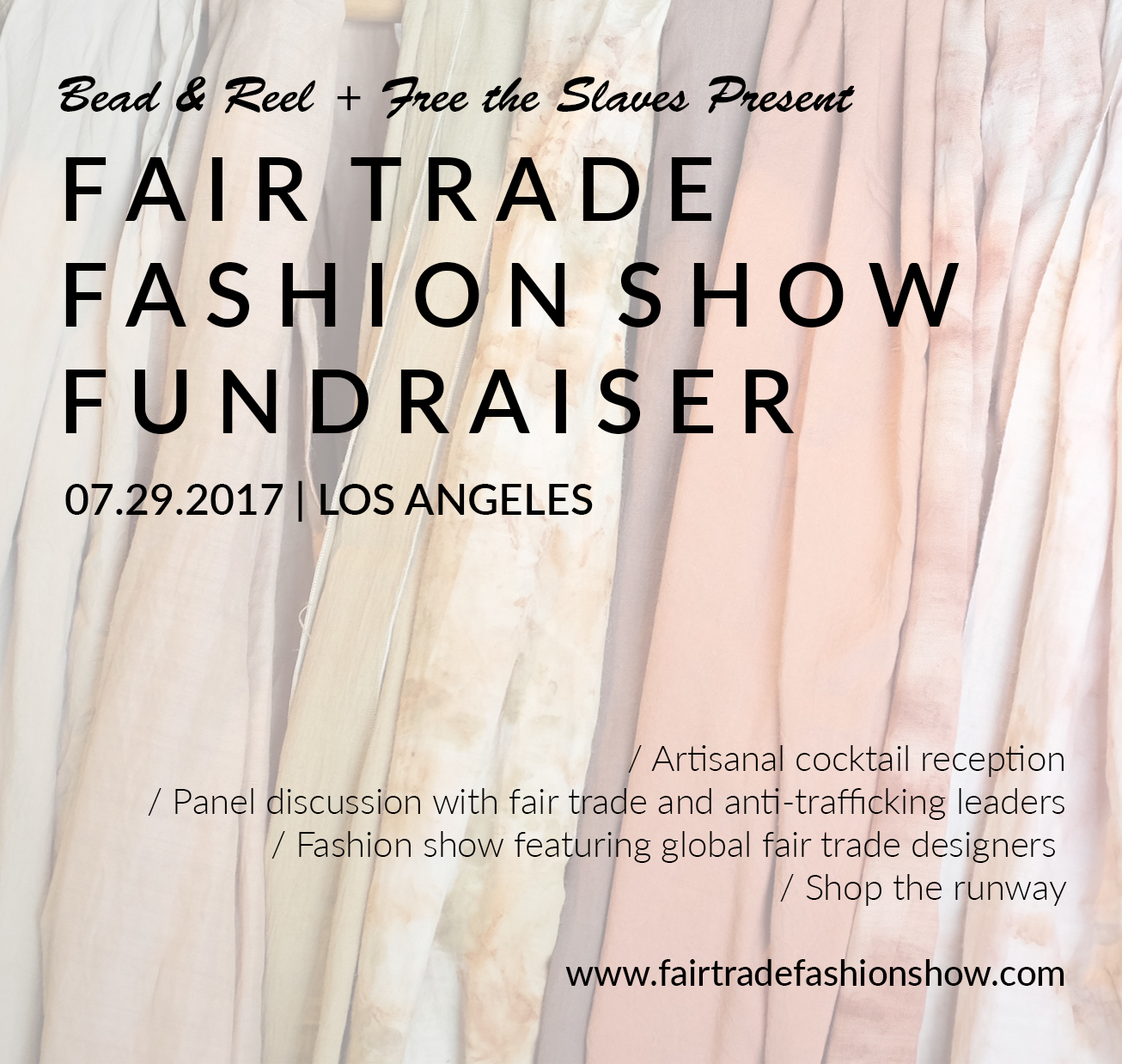 We will be representing Malia Designs at the 3rd Annual Fair Trade Fashion Show & Fundraiser! Join us as we discuss and highlight how we can fight human trafficking through ethical and sustainable fashion initiatives! Reserve your seats today!