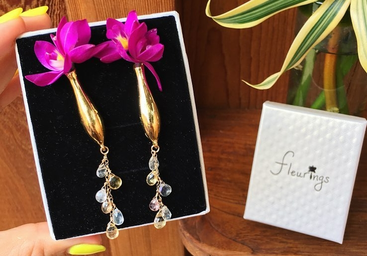 Fleurings vase jewelry with Gemstones sold in our retail!