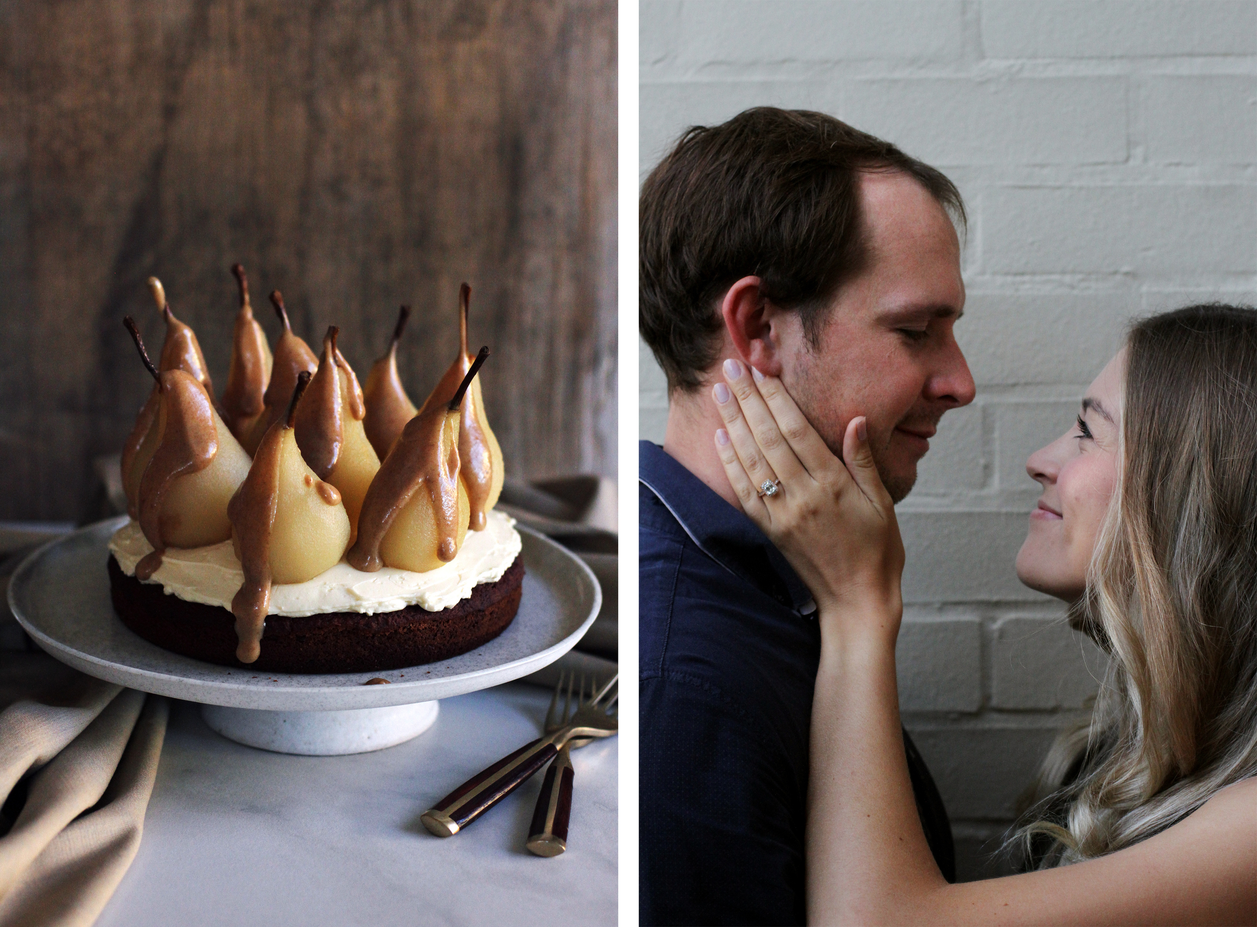 Engagement Toast with Spiced Teacake & Champagne Poached Pears⎜The Botanical Kitchen