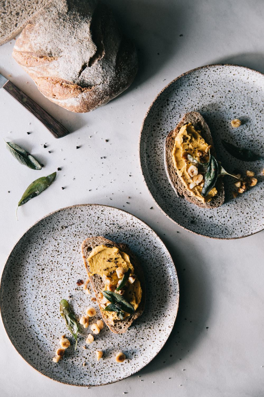 Carrot Hummus with Crispy Sage & Hazelnuts⎜The Botanical Kitchen