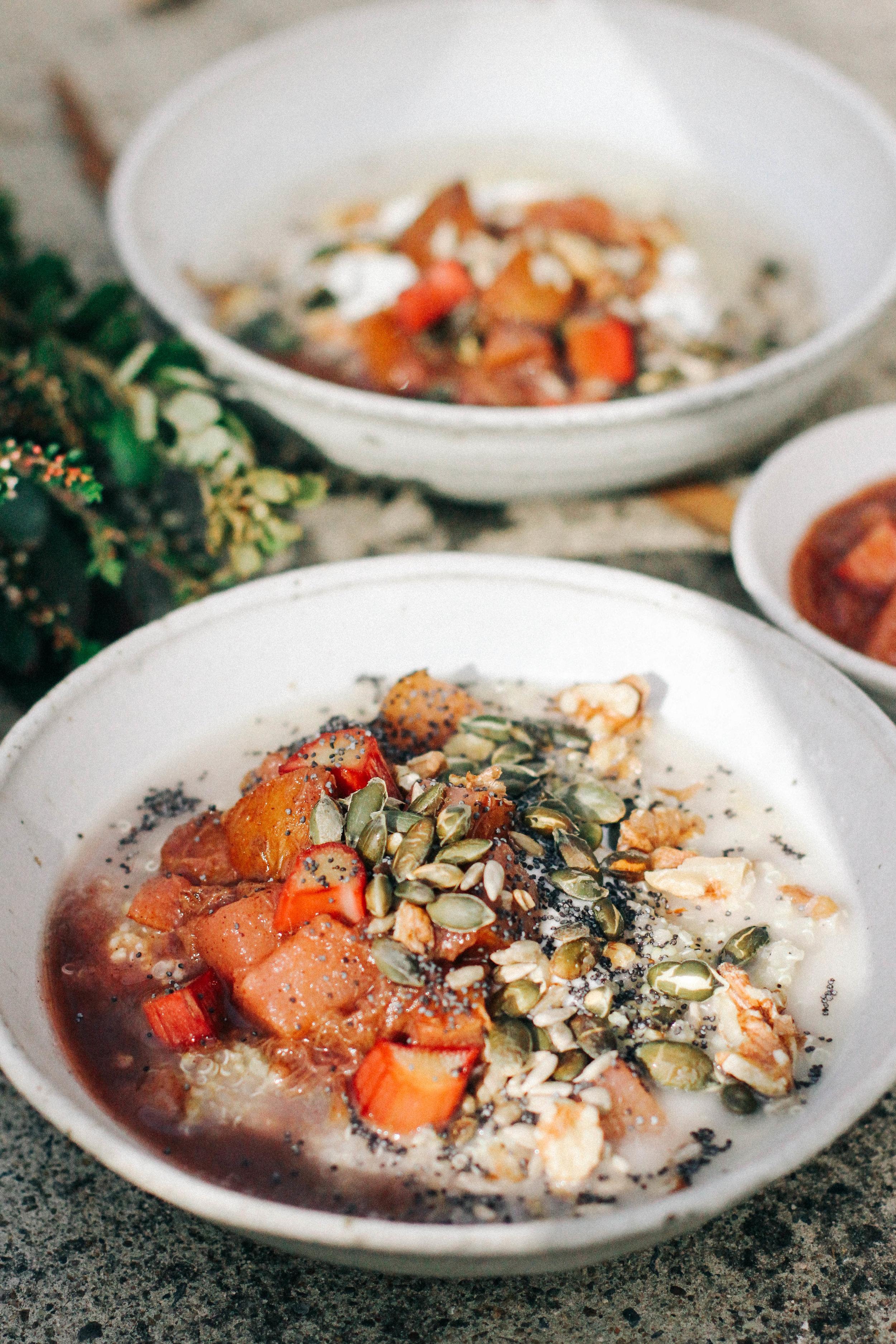 Rhubarb Porridge⎜The Botanical Kitchen