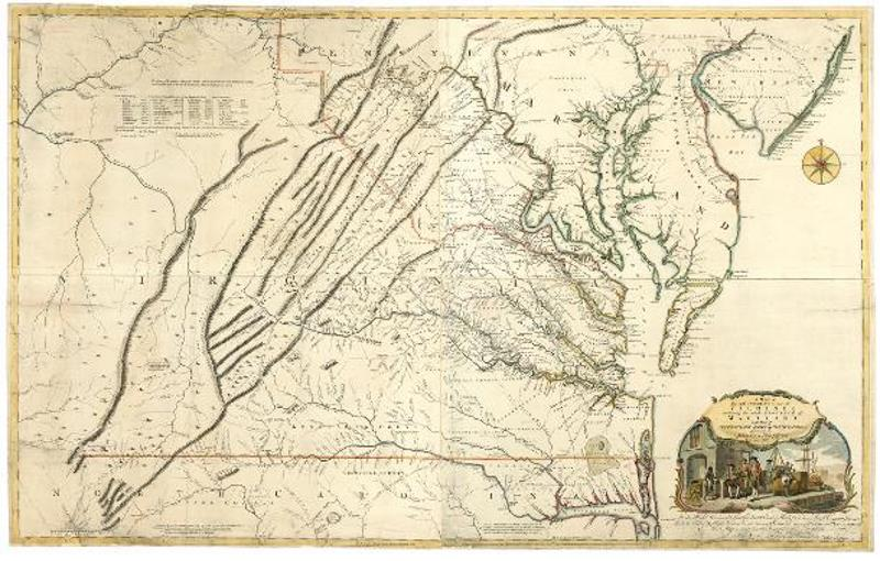 The recurring image for this series is the Fry-Jefferson map of 1753. This map was produced by Peter Jefferson (TJ's father!)and Joshua Fry, both accomplished surveyors. Their work became the definitive map of 18th century Virginia, and Thomas Jefferson often refers to it in his  Notes.