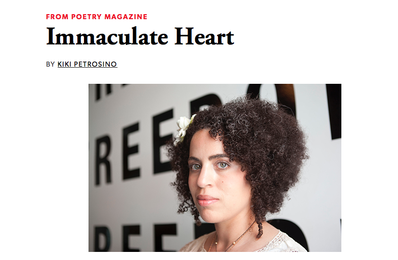 """My essay, """"Immaculate Heart"""" on the Harriet blog."""