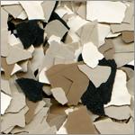 1/2 inch epoxy garage floor chip