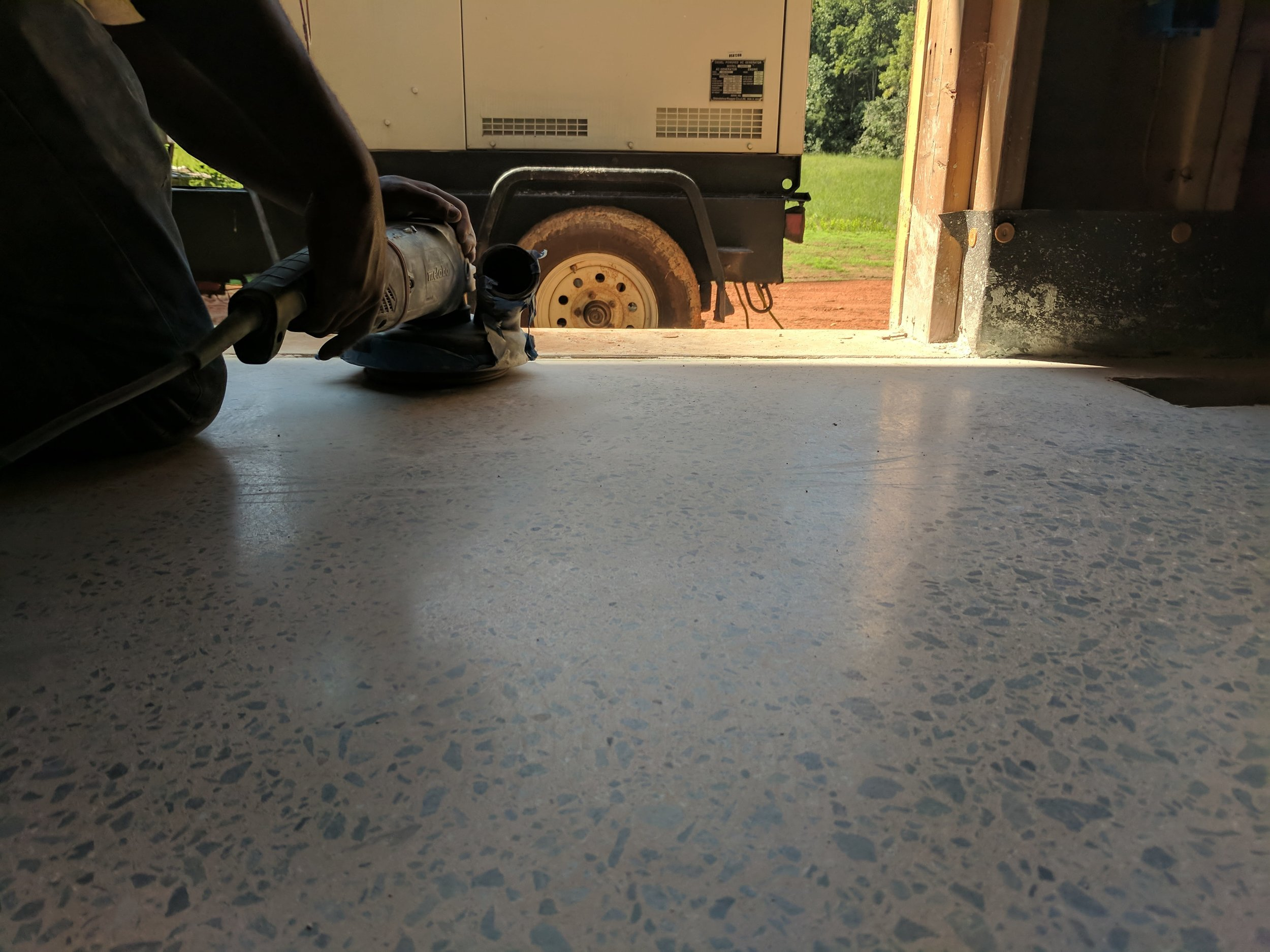 Polished Concrete Flooring North Carolina Terrazzo Restoration