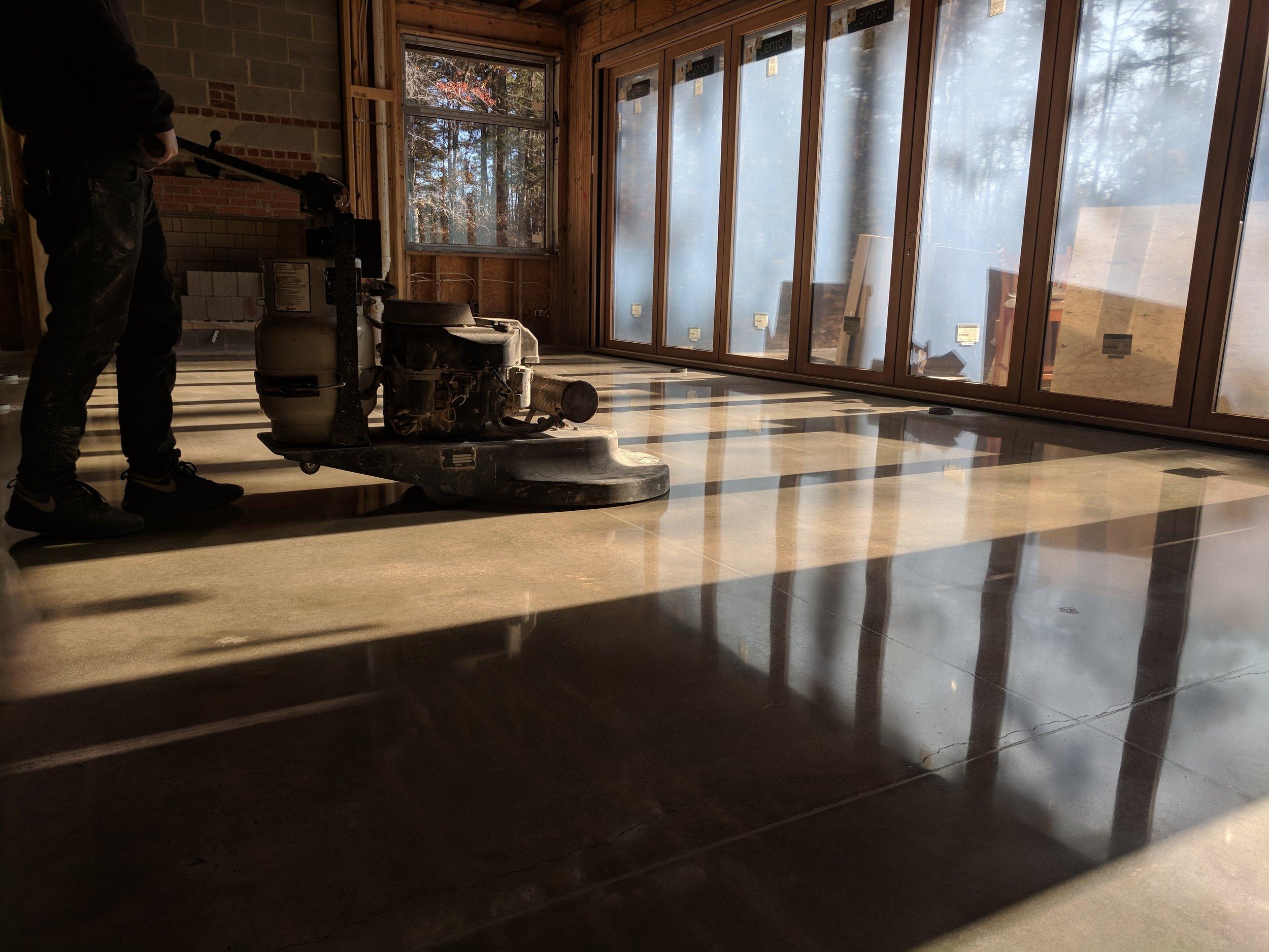 Minimal Grind Polished Concrete