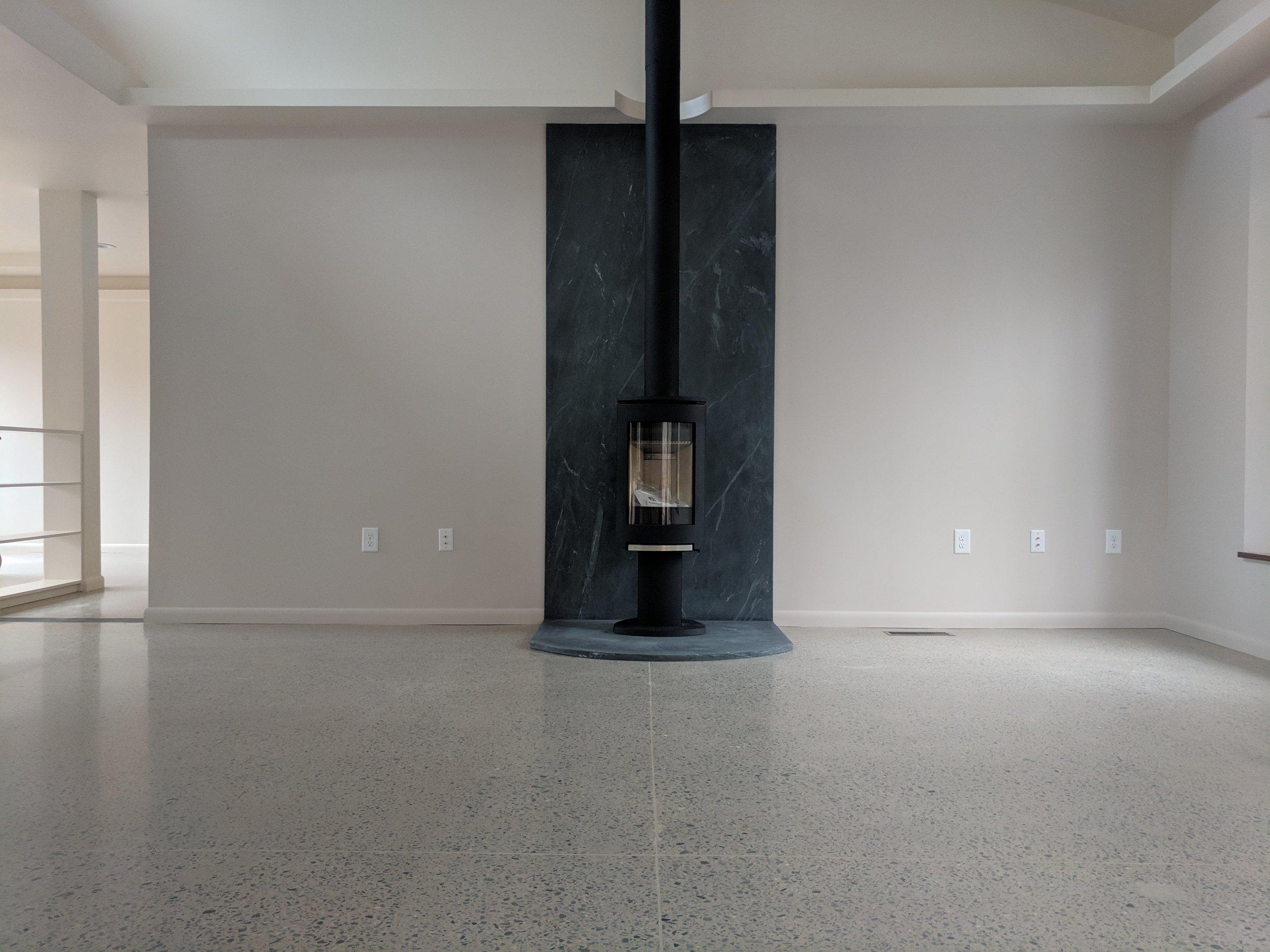400 Grit Deep Grind Polished Concrete