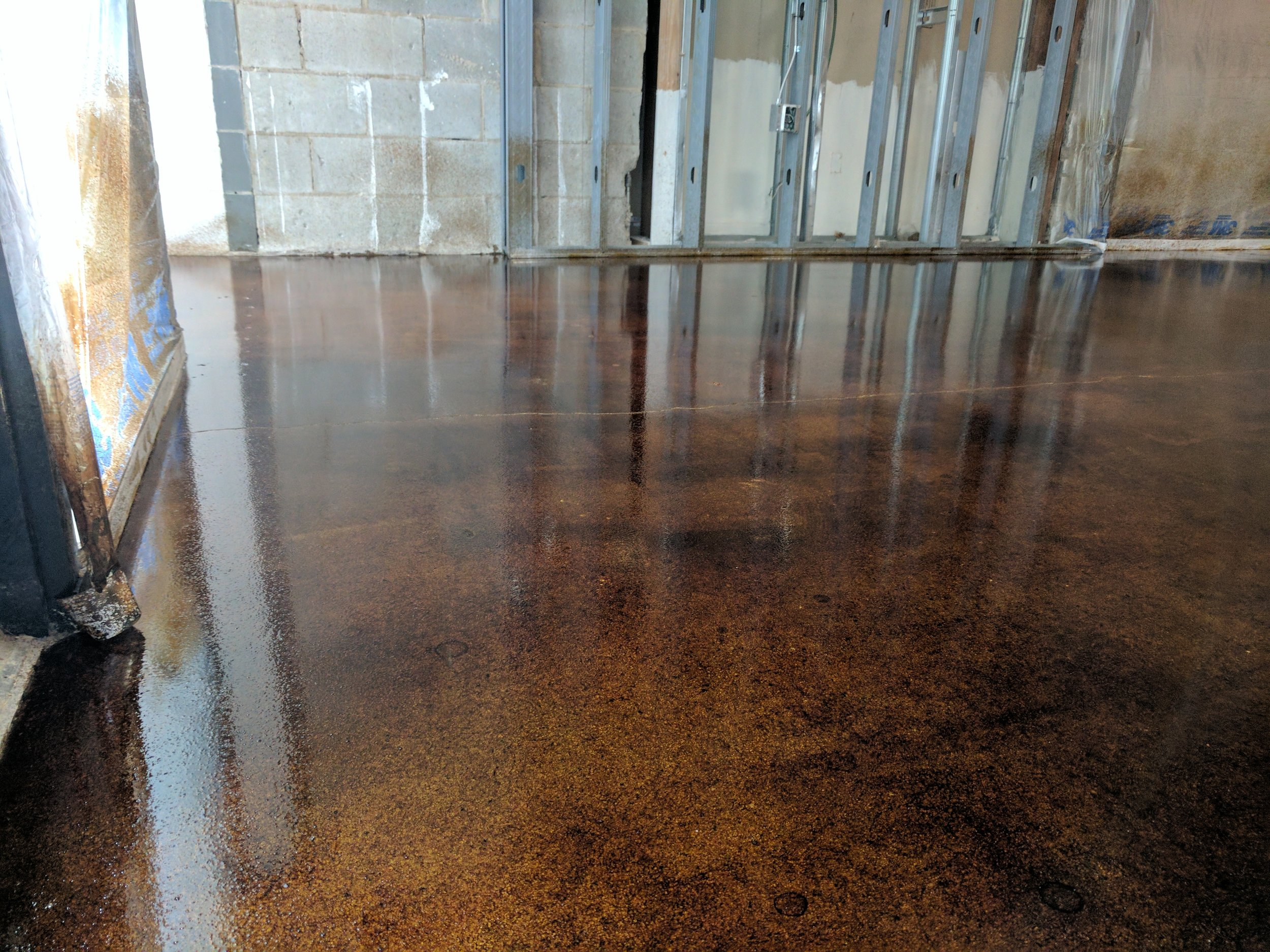 Stain and Seal Concrete Floor