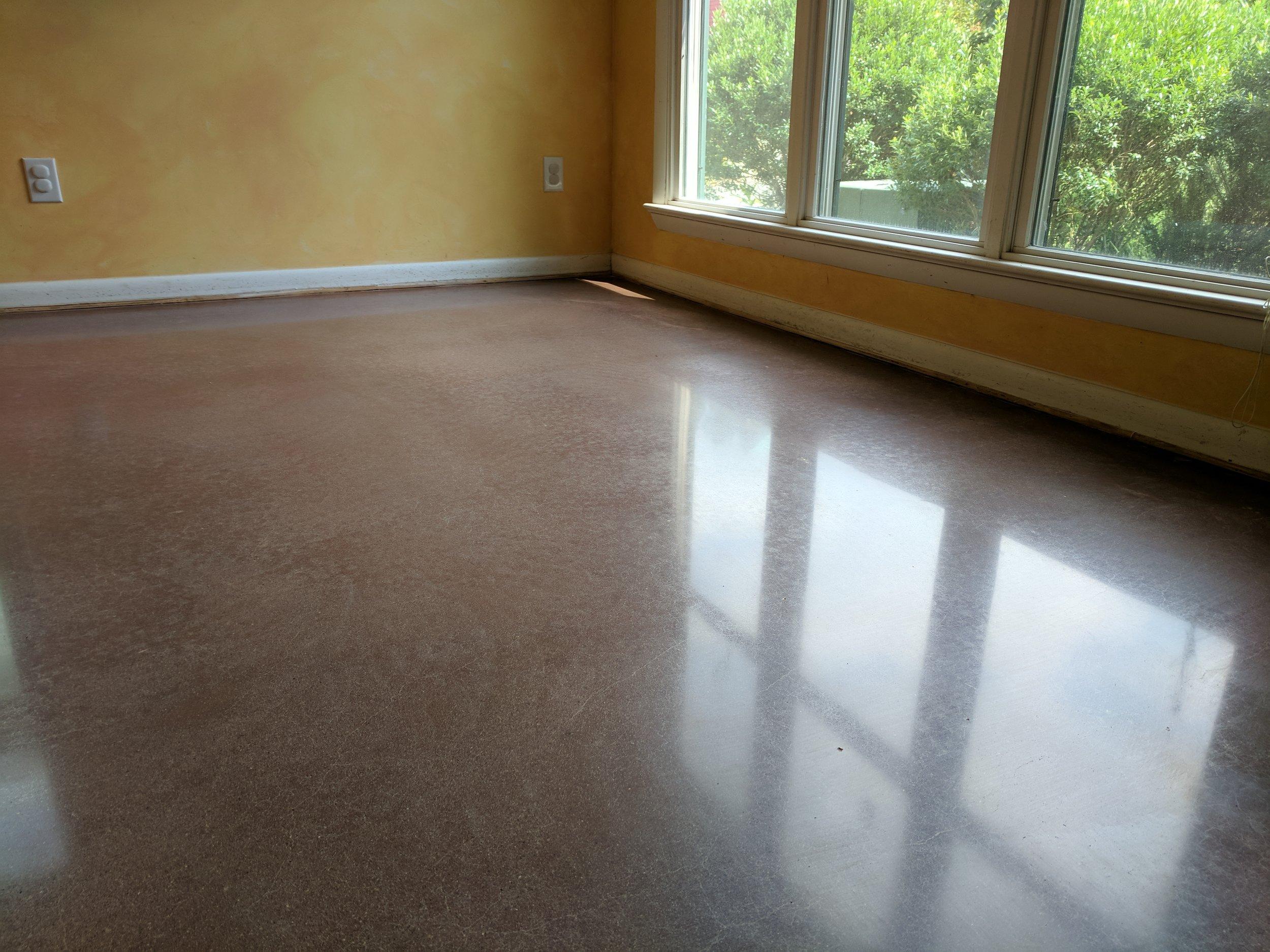 Minimal Grind Polished Concrete Floor