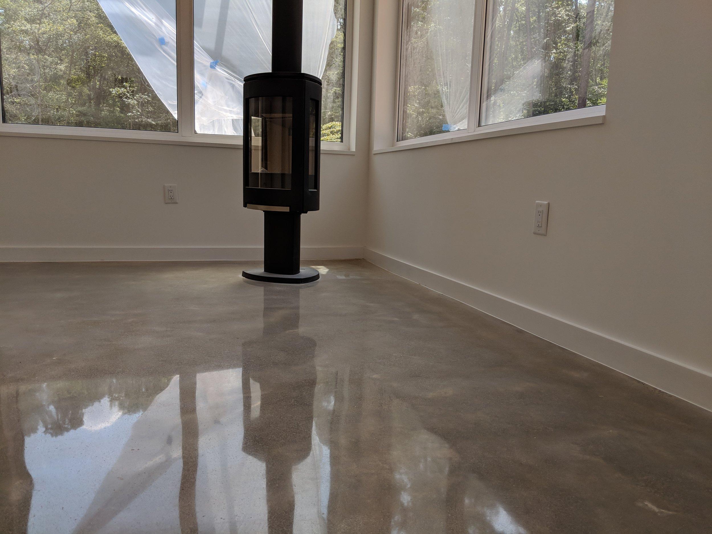 Minimal 800 Grit Polished Concrete Slab