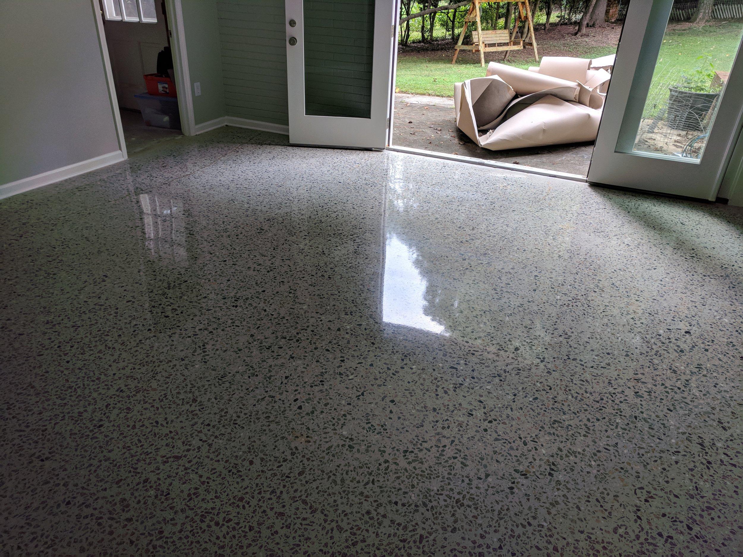 Deep Grind Concrete Polish