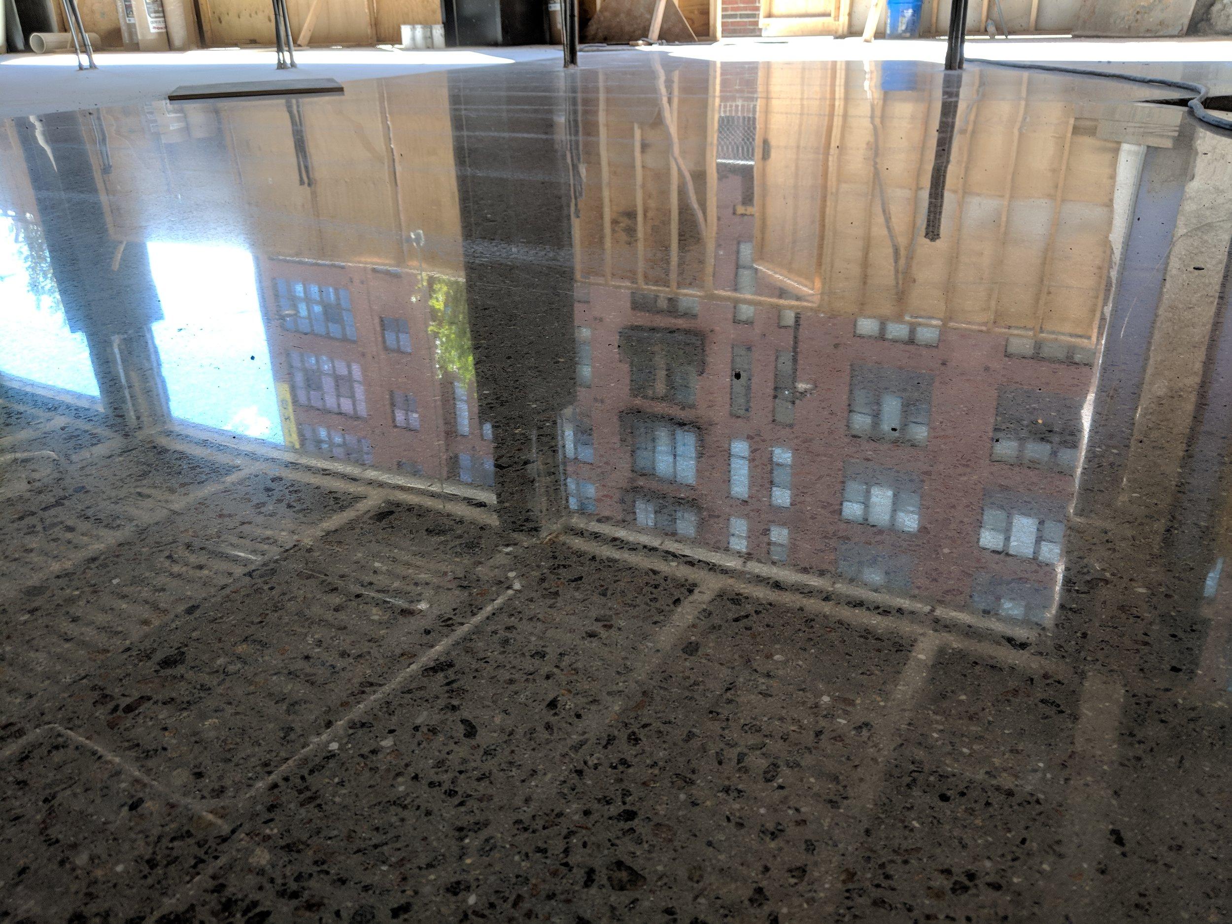 3000 Grit Deep Grind Polished Concrete