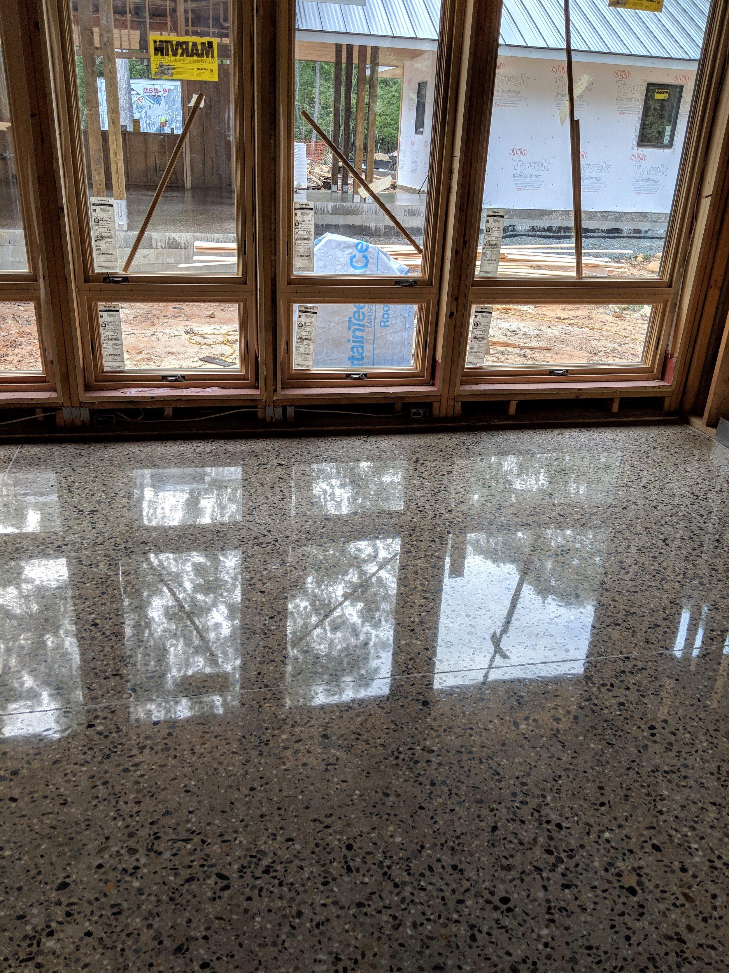 1500 Grit Deep Grind Polished Concrete