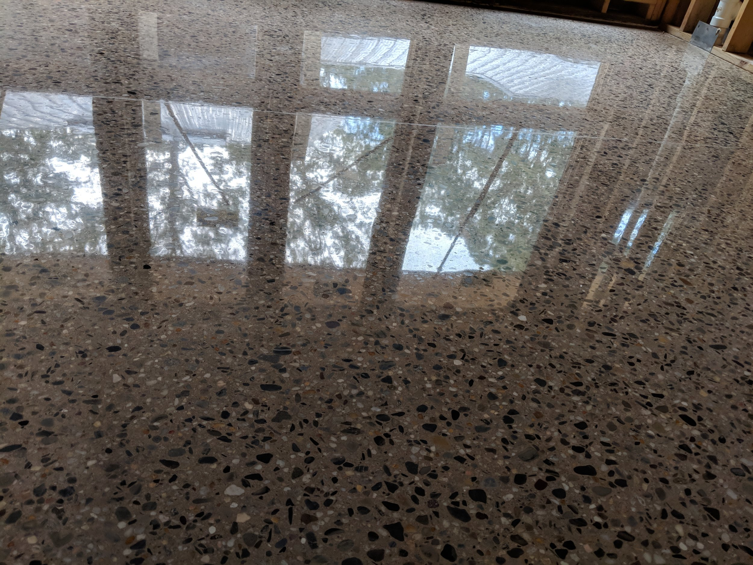 1500 Grit Polished Concrete