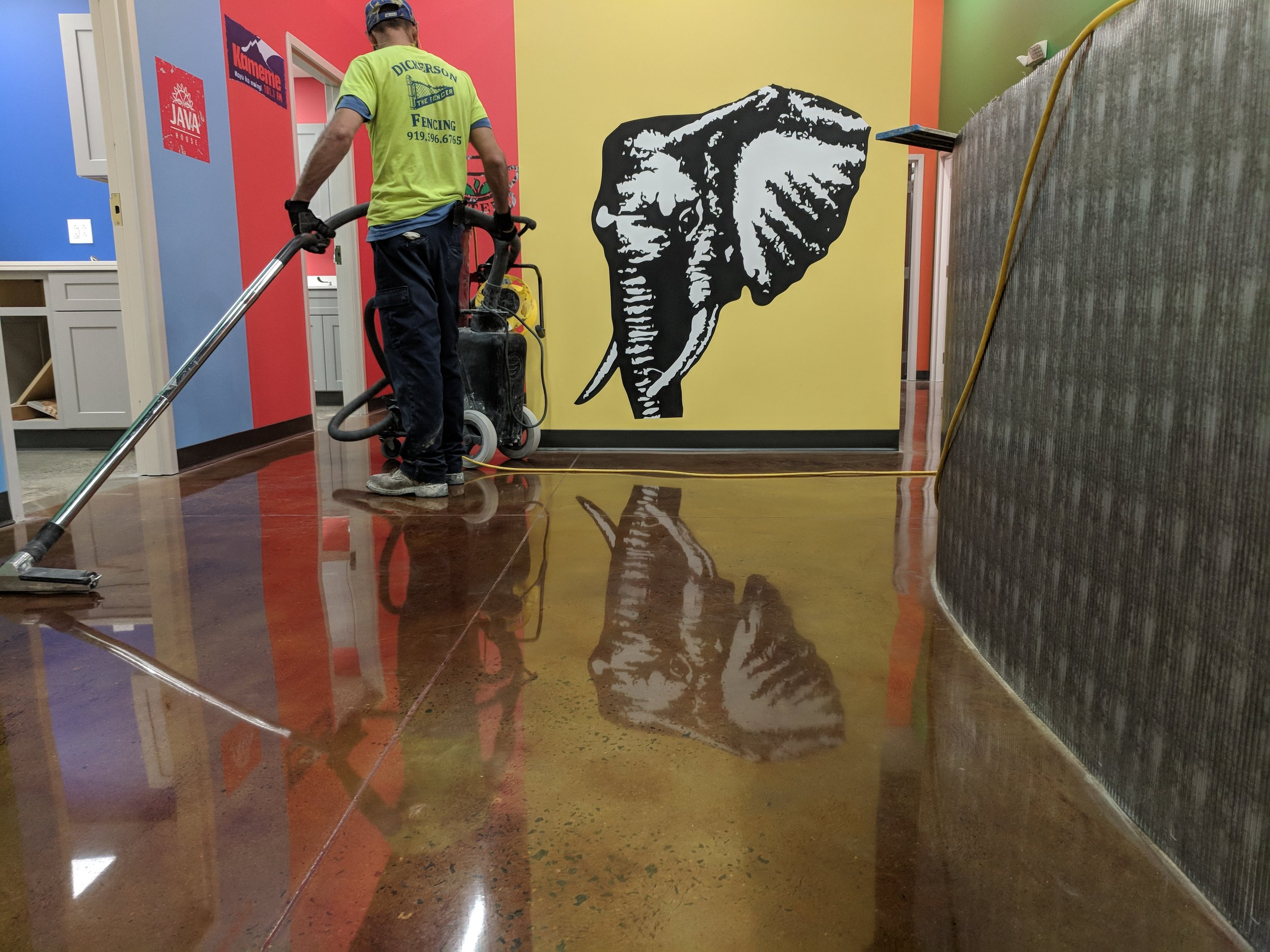 Stained Polished Concrete Floor