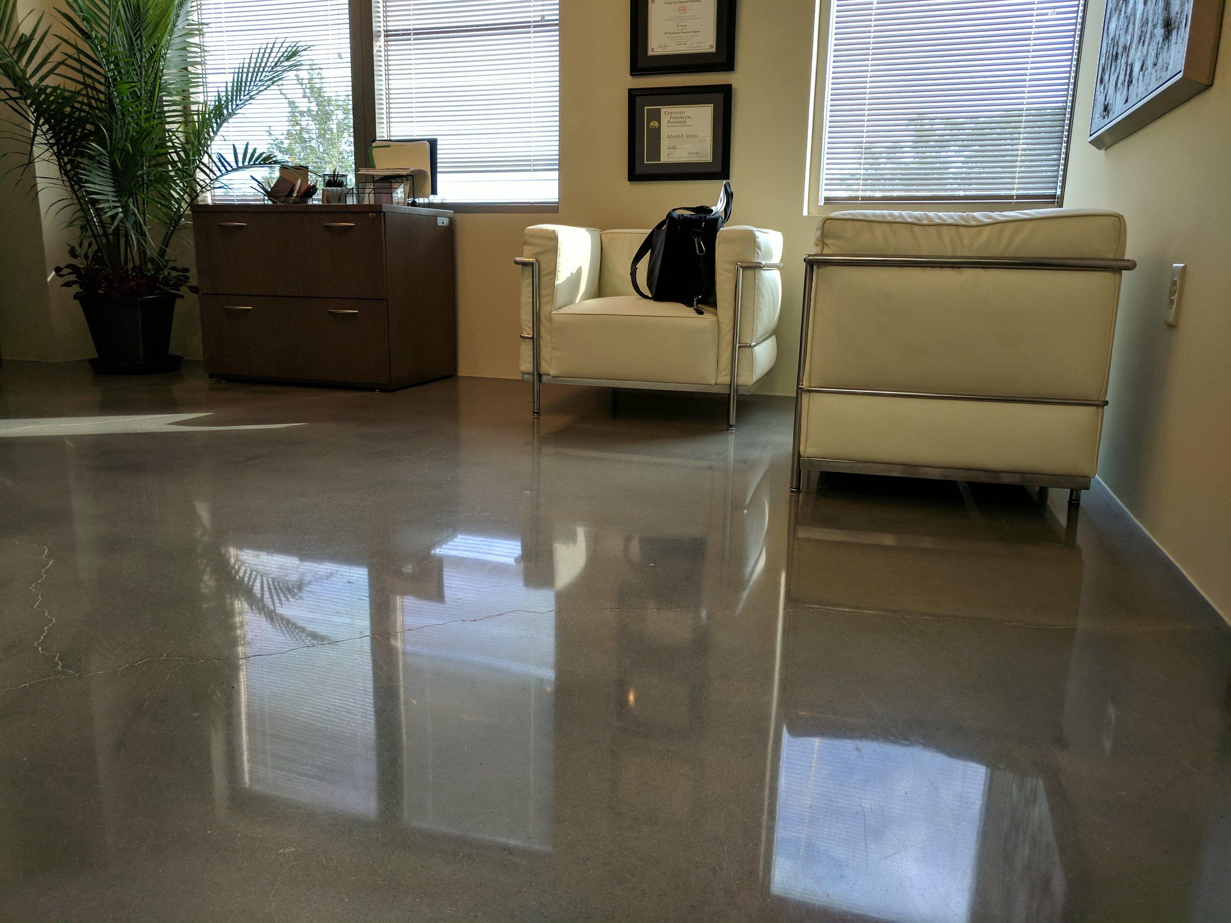 Minimal Exposure Polished Concrete
