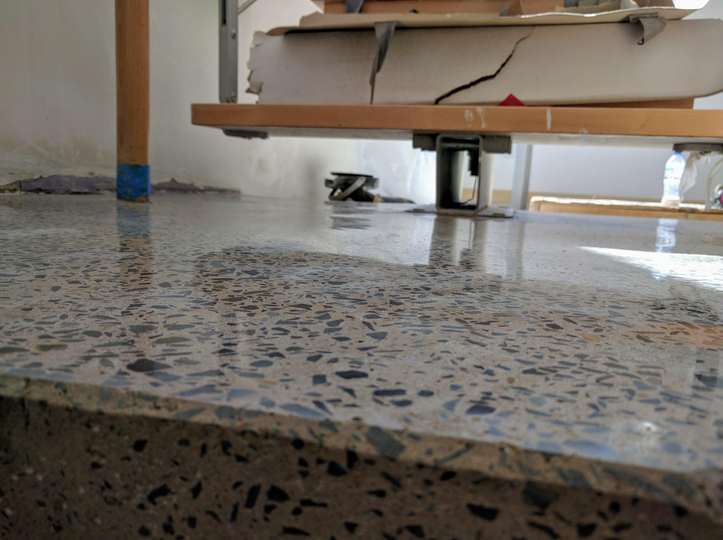 Hand-Polished Concrete Flooring Details