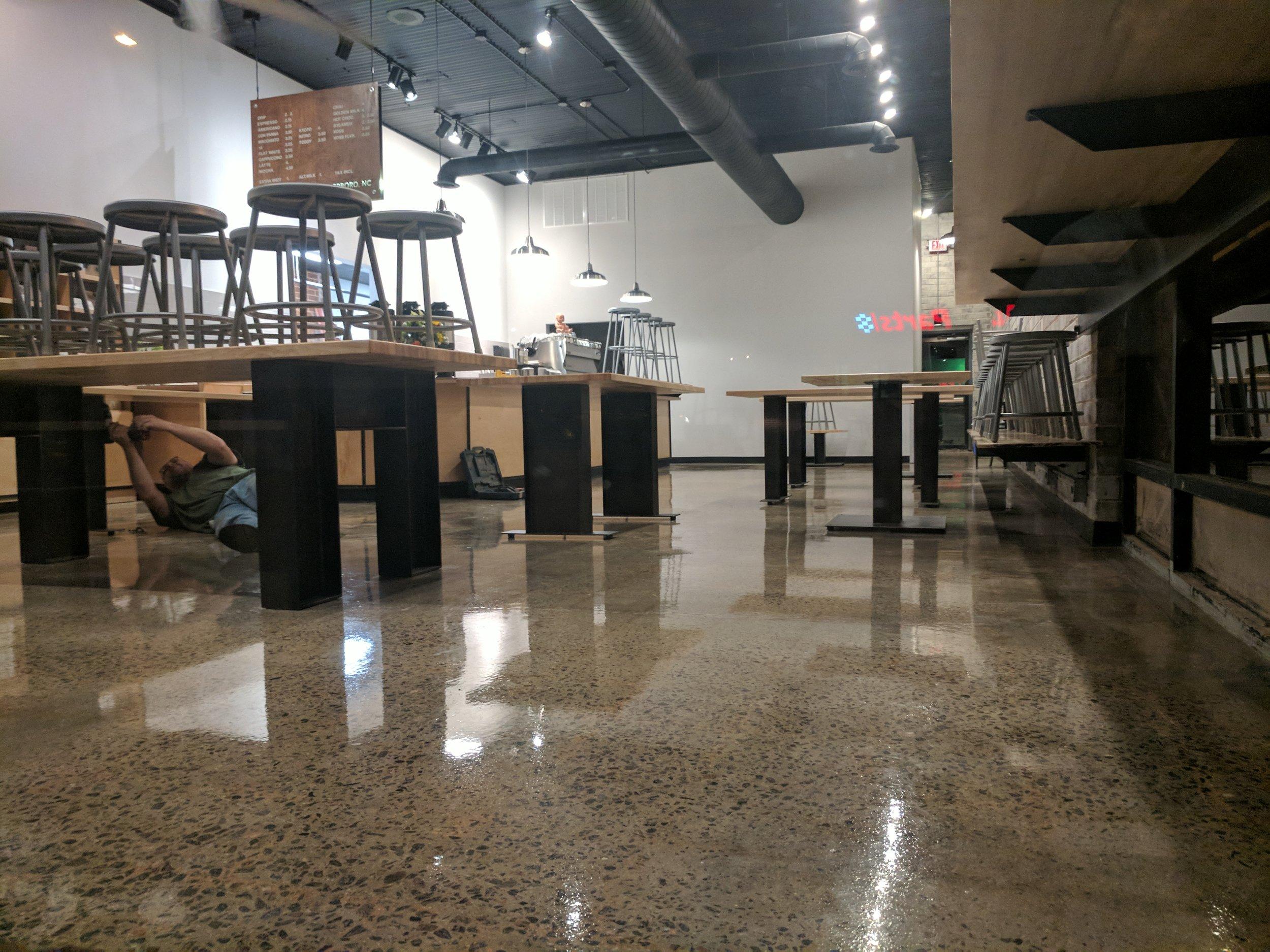 Sealed Concrete Flooring