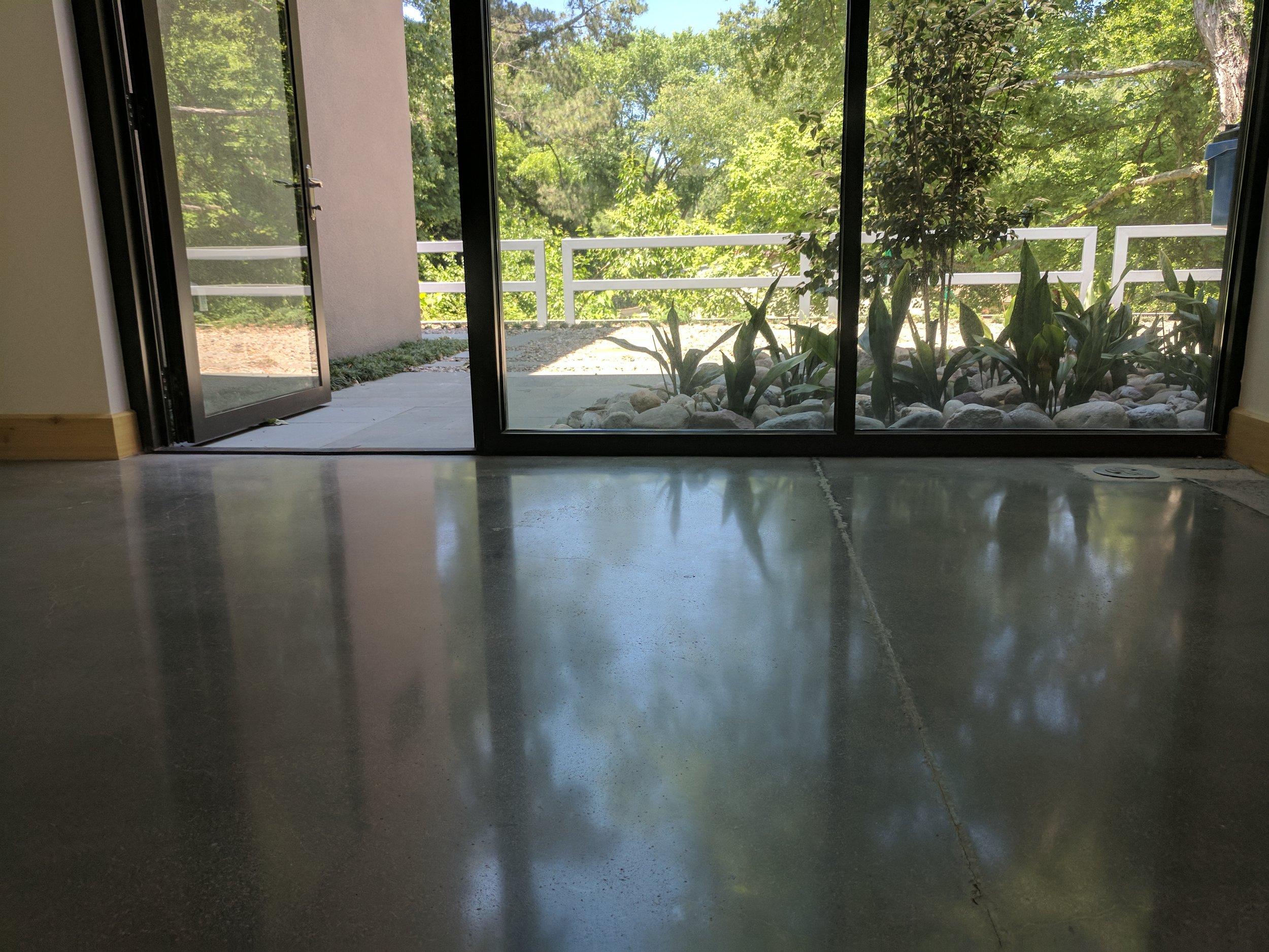 Minimal Grind 200 Grit Polished Concrete Floor