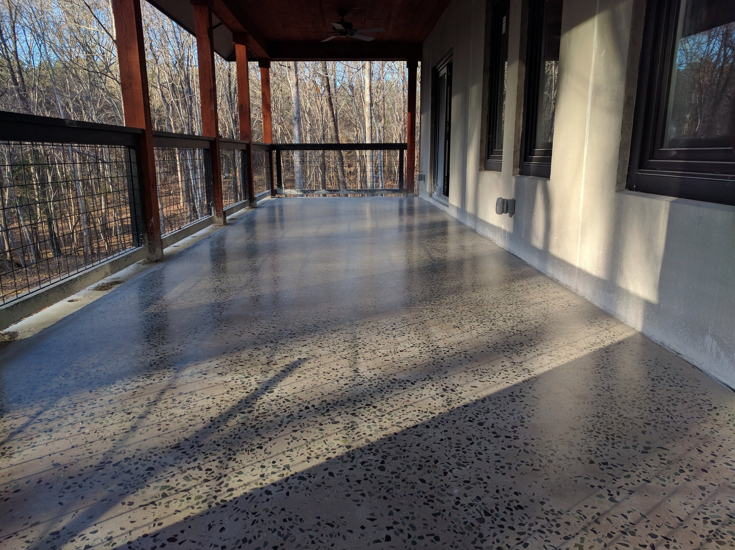 Polished Concrete Patio Floor