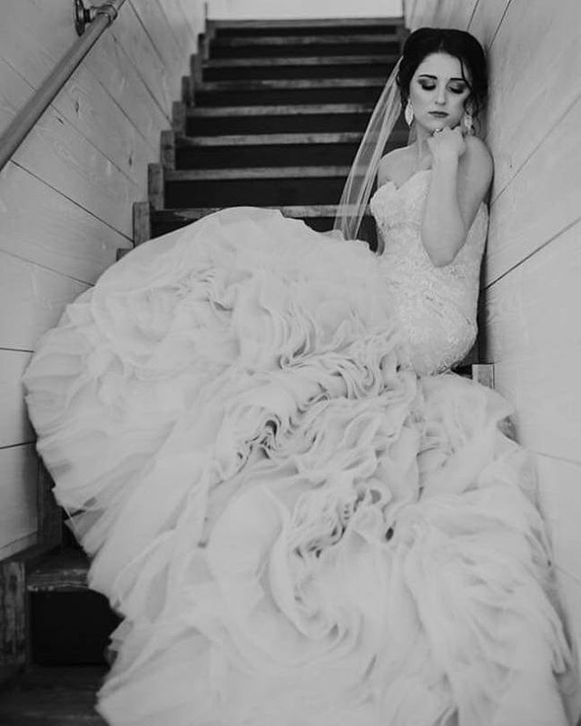 I am still so in love with this bridal photo we took of Ashton a year ago! @underthewildwood had just opened and I was so lucky to have had the priviledge to shoot there! Ashton was gorgeous and I'm glad she trusted my vision and was able to sit in her bridal gown - some aren't!  This stairway shot will forever be a favorite! . . . . . . . . #bridals #bridalphotos #somewhatphotography #blackandwhite #dfwphotographer #dfwweddingphotographer #theknot #northtexasbrides #radlovestories #authenticlovemag #belovedstories #junebugweddings #justmarried #tribearchipelago #lxc #lookslikefilm #instagood #instadaily #instadfw #weddingseason