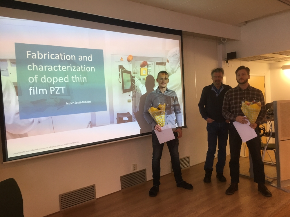 Left: Jesper- respondent, middle: Hans Sohlström (KTH -MST as examination) and right: Mikael as opponent.