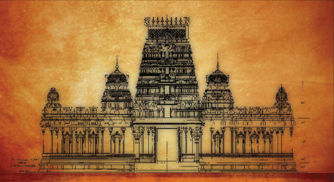 Temple Elevation Drawing