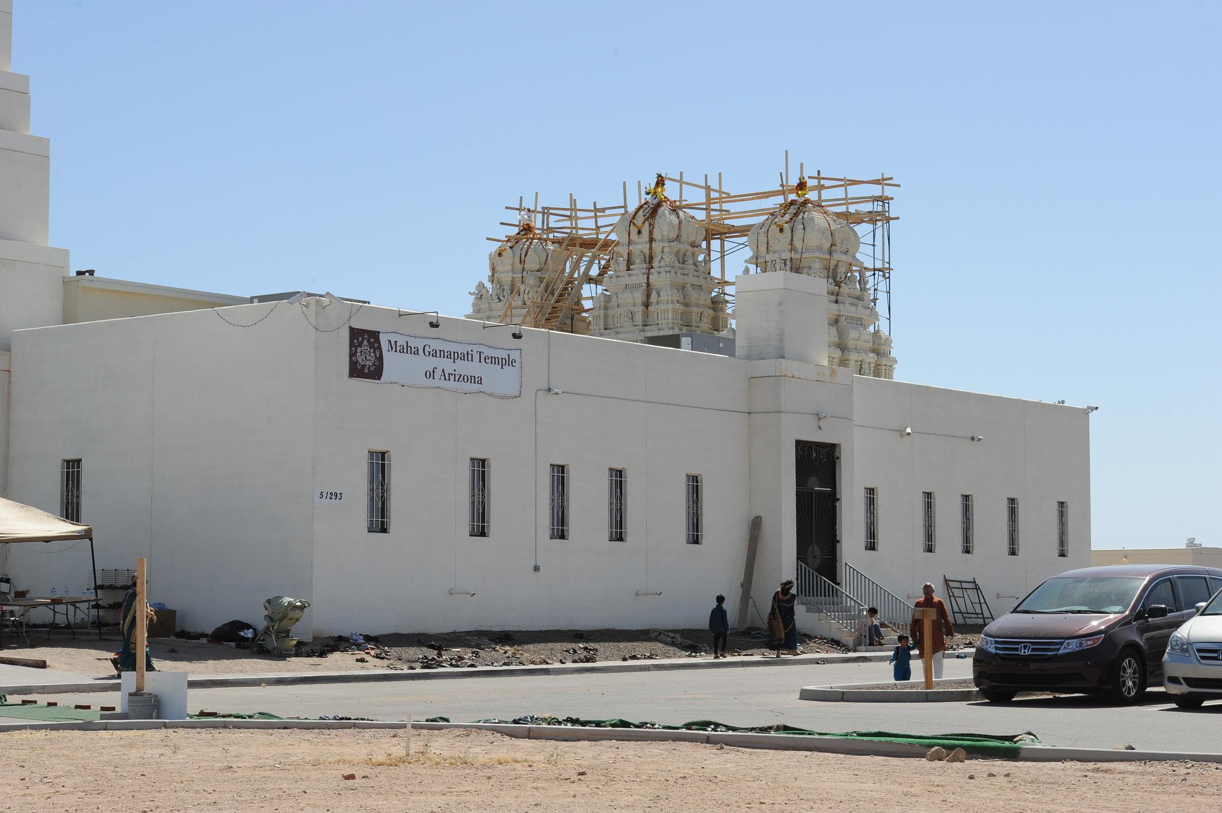 Construction of Main Shrine Vimanas (2013)