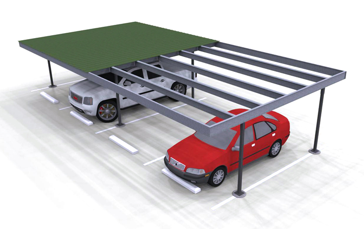 Carports Flat Top Rendering