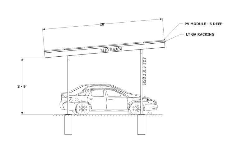 Solar Carport sketch two column