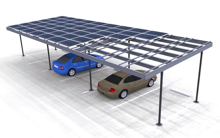 Solar Carport Render two column