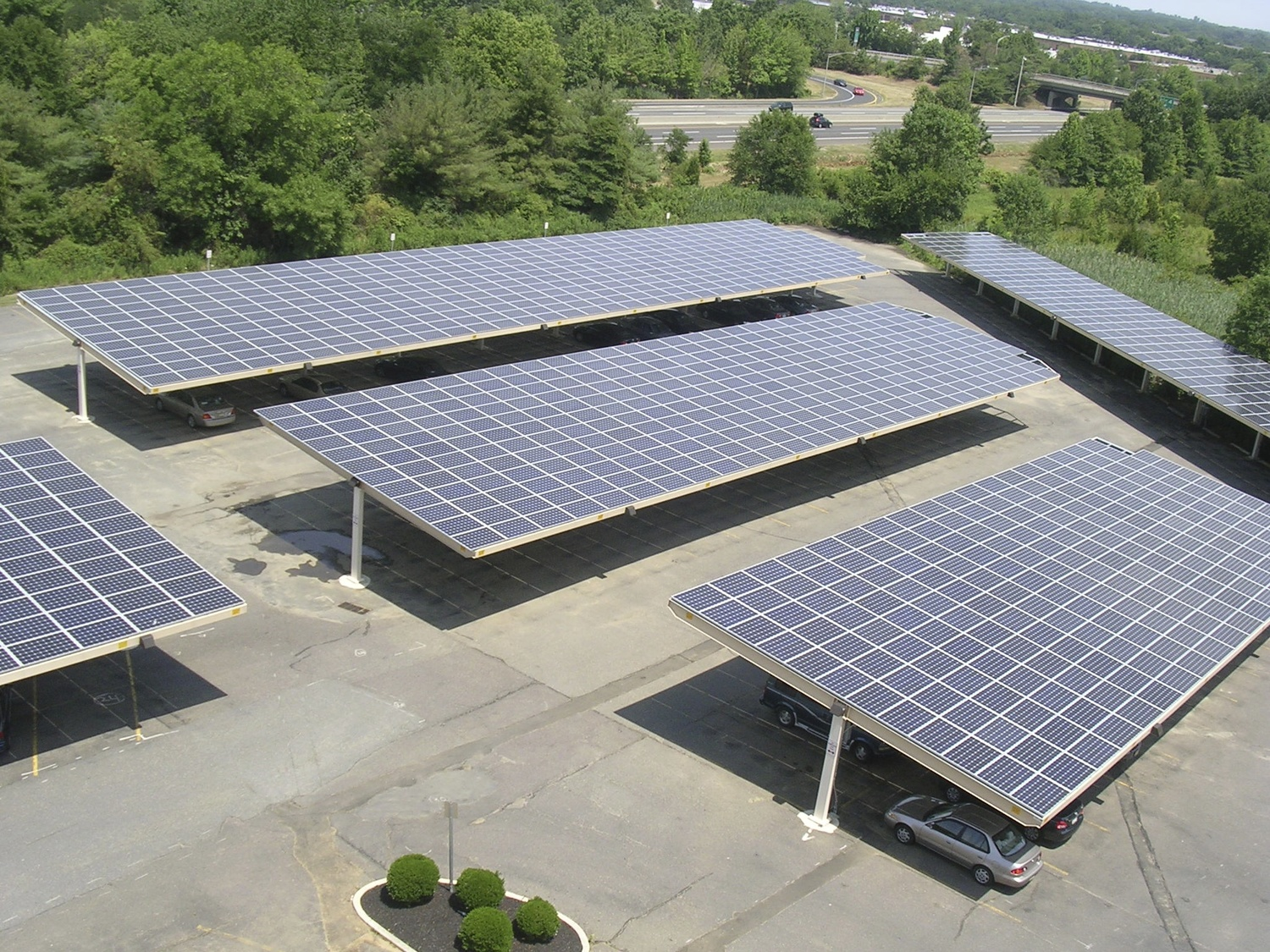 Solar Single Column Double — Carport Structures Corp.
